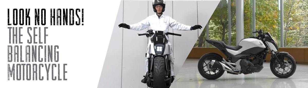 Look No Hands! Honda's Self Balancing Bike