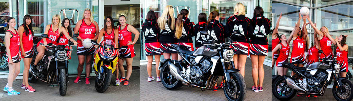 The North West Honda Angels netball team