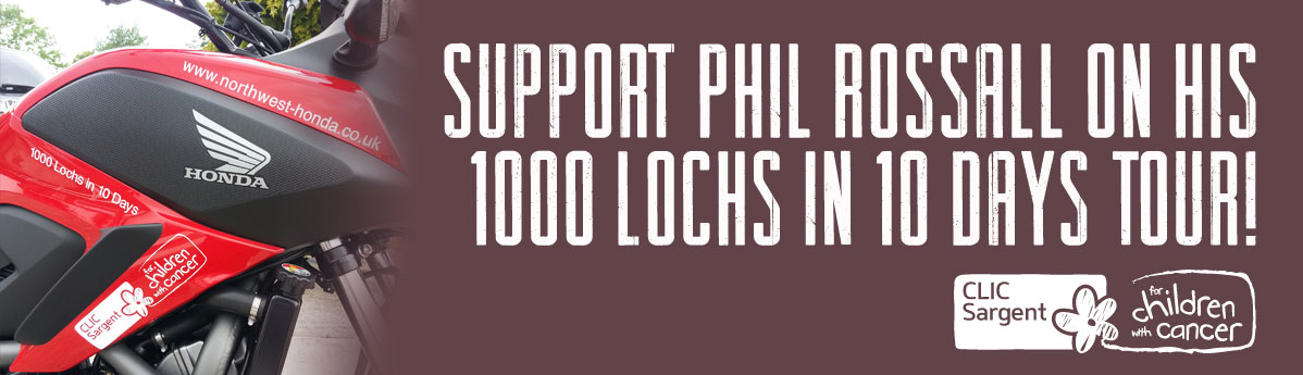 Phil Rossall to complete 1000 Lochs in 10 days tour