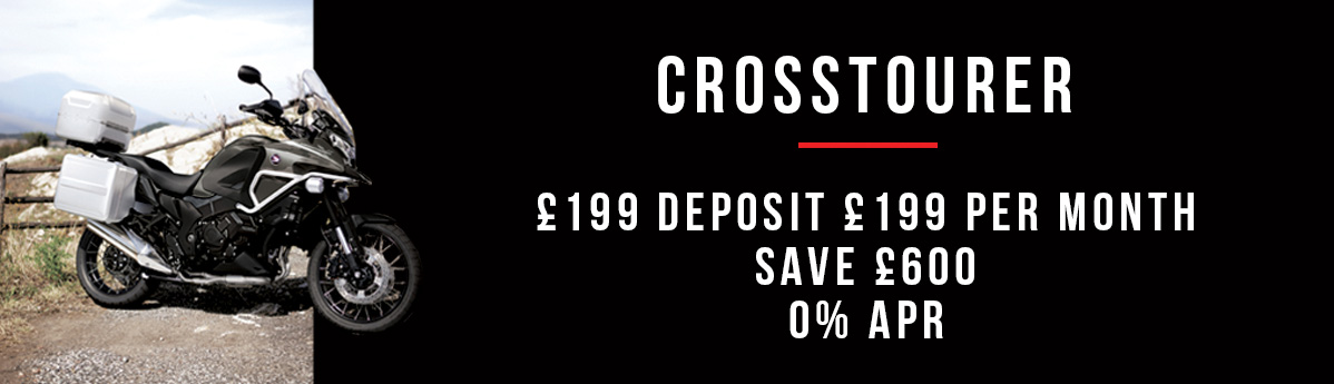 Crosstourer Highlander £199 deposit and £199 per month 0% APR